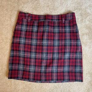 Eddie Bauer Plaid Wool Skirt